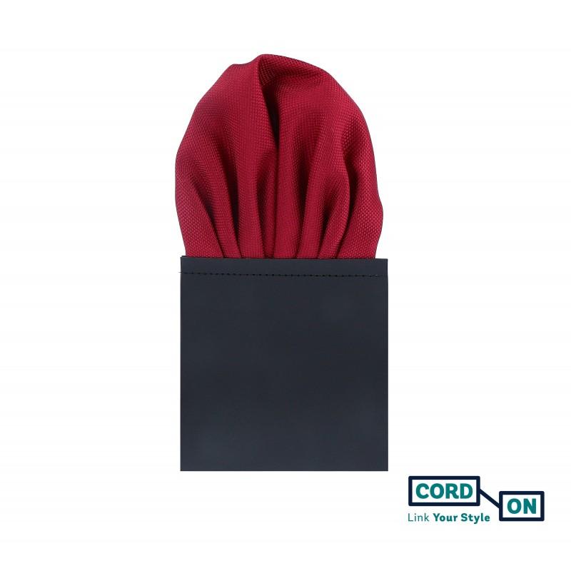 Pañuelo de bolsillo puff hombre rojo burdeos Oxford