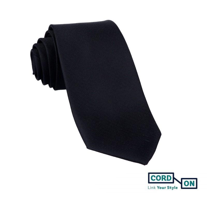Corbata hombre negro Oxford