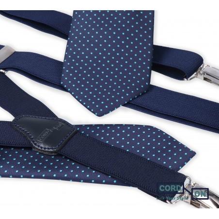 Set padre hijo tirantes corbatas azul marino turquesa Dressy Brooklyn