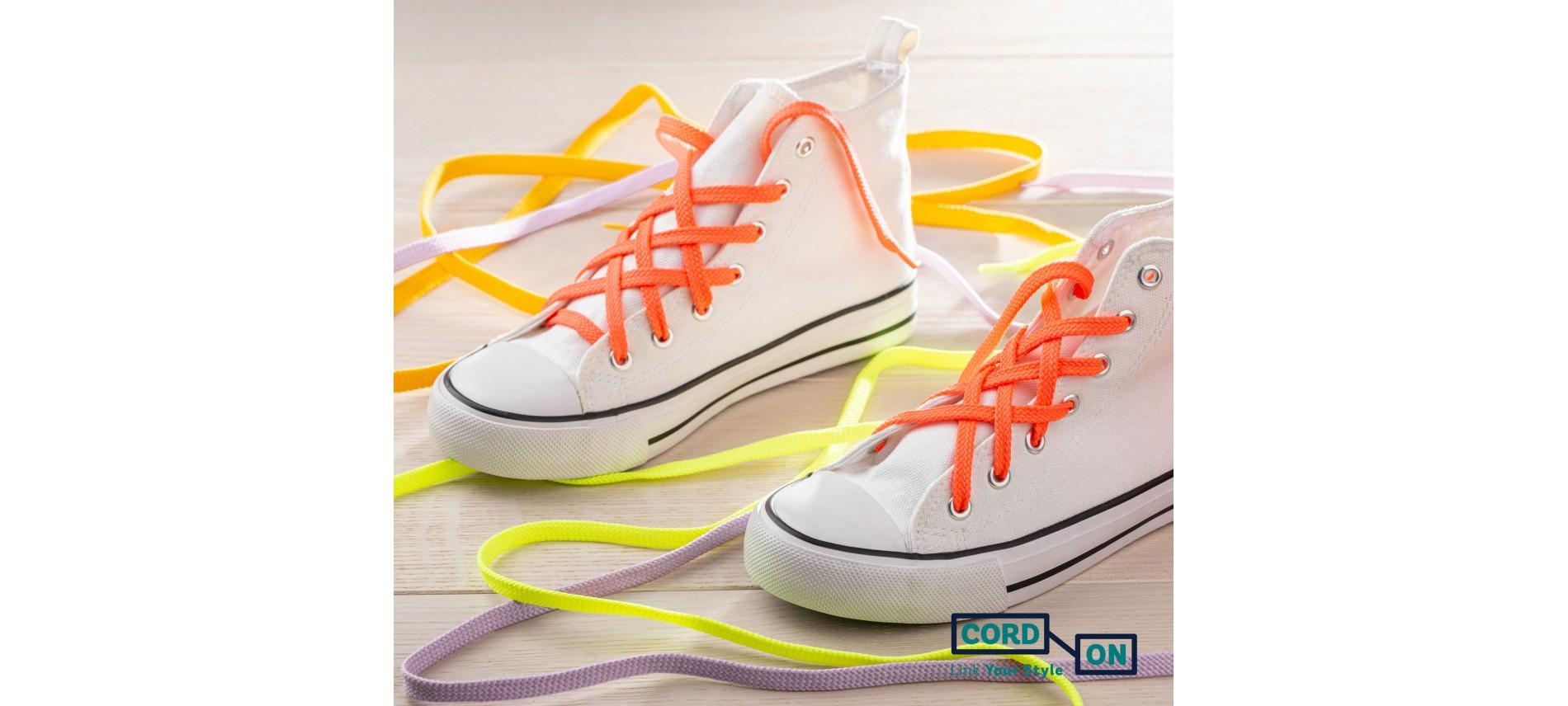 Cordones planos casual para calzado